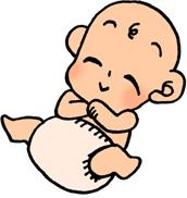かわいい赤ちゃんのイラストフリー素材