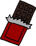 板チョコのイラストフリー素材 バレンタイン