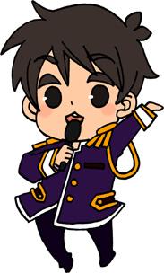 男性アイドルのイラストフリー素材 王子様衣装 紫担当