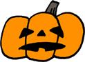 シンプルハロウィンかぼちゃイラストフリー素材