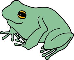 カエルのイラストフリー素材
