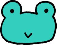 蛙のキャラクターミニイラストフリー素材 カエル