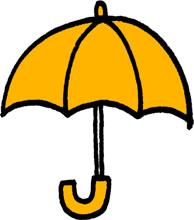 傘のミニイラストフリー素材黄色