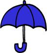 傘のミニイラストフリー素材青