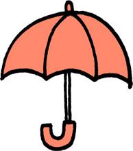 傘のミニイラストフリー素材ピンク