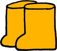 長靴のイラストフリー素材 黄色