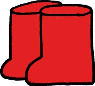 長靴のイラストフリー素材 赤