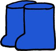 長靴のイラストフリー素材 青