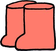 長靴のイラストフリー素材 ピンク