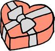 ハートのプレゼントボックス クリスマス バレンタインデー ピンク
