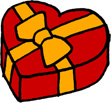ハートのプレゼントボックス クリスマス バレンタインデー 赤