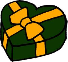 ハートのプレゼントボックス クリスマス バレンタインデー 緑