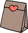 プレゼントバッグ(プレゼントボックス)袋のイラストフリー素材 クラフト