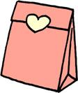 プレゼントバッグ(プレゼントボックス)袋のイラストフリー素材 ピンク