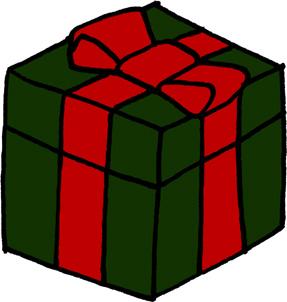 プレゼントボックスイラストフリー素材 誕生日プレゼント クリスマス バレンタイン 緑