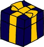 プレゼントボックスイラストフリー素材 誕生日プレゼント クリスマス バレンタイン 紺色