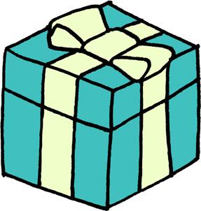 プレゼントボックスイラストフリー素材 誕生日プレゼント クリスマス バレンタイン エメラルドグリーン