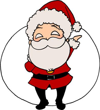 かわいいサンタクロースのイラストフリー素材 クリスマス イラスト