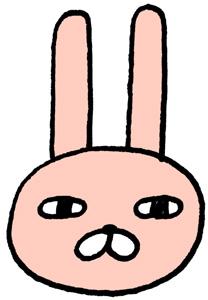 ジト目のウサギのおキャラクターイラスト素材