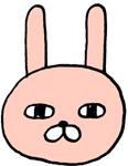 ジト目のウサギのおキャラクターミニイラスト素材