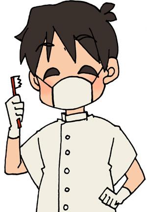 笑顔の歯科医師(男性)のイラストフリー素材 歯医者さん