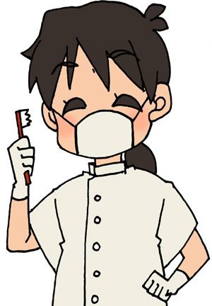 笑顔の歯科医(女性)のイラストフリー素材 歯医者さん