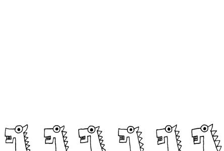 シンプル馬のイラスト年賀状イラスト素材