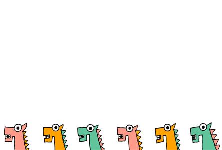 カラフルシンプル馬の年賀状イラスト素材