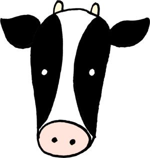かわいい牛のイラスト素材