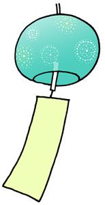 風鈴のイラスト無料素材 夏のイラスト