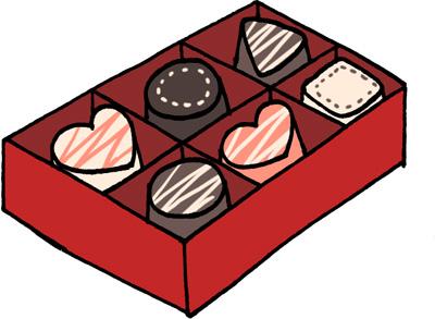 チョコレートセットのイラスト無料素材 バレンタイン
