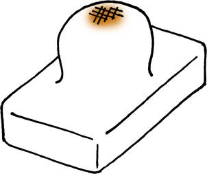 焼いた餅の手描きイラスト無料素材 お正月
