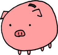貯金ブタのイラスト素材 豚の貯金箱【無料】