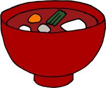お雑煮の手描きイラストフリー素材 関東風おすまし